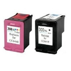 PACK HP 300 XL NEGRO + HP 300 XL TRICOLOR CARTUCHO DE TINTA REMANUFACTURADO