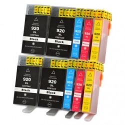 HP 920XL MULTIPACK 10 CARTUCHOS DE TINTA GENERICO