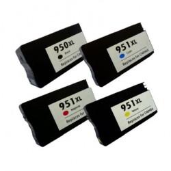 HP 950XL / 951XL MULTIPACK 4 CARTUCHOS DE TINTA GENERICO