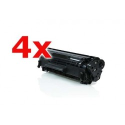 Pack 4 HP Q2612A NEGRO CARTUCHO DE TONER COMPATIBLE Nº 12A