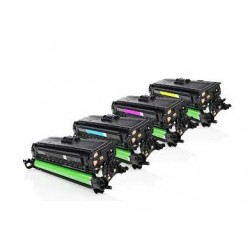 PACK HP CE260X / CE261A / CE262A / CE263A CARTUCHOS DE TONER GENERICOS PACK 4 COLORES