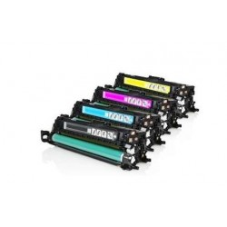 HP CE250X / CE251A / CE252A / CE253A CARTUCHOS DE TONER COMPATIBLE PACK 4 COLORES