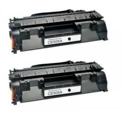 Pack 2 HP CE505A NEGRO CARTUCHO DE TONER COMPATIBLE Nº 05A