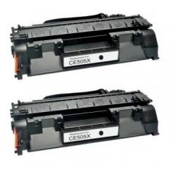 PACK 2 HP CE505X NEGRO CARTUCHO DE TONER COMPATIBLE Nº 05X