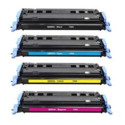 HP Q6000A / Q6001A / Q6002A / Q6003A PACK 4 CARTUCHOS DE TONER COMPATIBLE