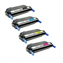 HP Q5950A/51A/52A/53A PACK CARTUCHOS DE TONER COMPATIBLES con HP Color LaserJet 4700
