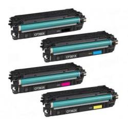 Pack HP CF360X / 61X / 62X / 63X CARTUCHOS DE TONER COMPATIBLES Nº 508X