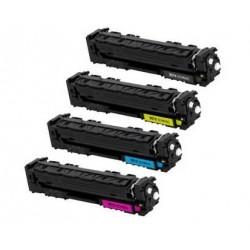 Pack Toner HP CF400X / CF401X / CF402X / CF403X compatible alta capacidad Nº 201X