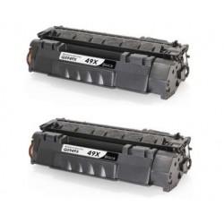 Pack 2 toner HP Q5949X NEGRO compatible Nº 49X