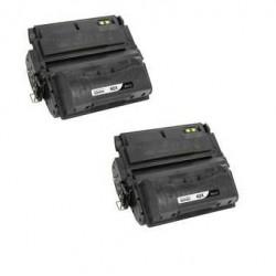 Pack 2 HP Q5942X / 42X NEGRO TONER COMPATIBLE con HP LaserJet 4250 / 4350