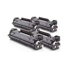 Pack 4 HP CE278A negro cartucho de toner compatible Nº 78A