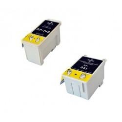 Pack 2 Cartuchos de tinta Epson T040 / T041 compatibles